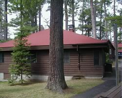 Marywood cabins in the summer