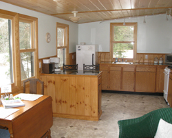 Marywood retreat cabin kitchen